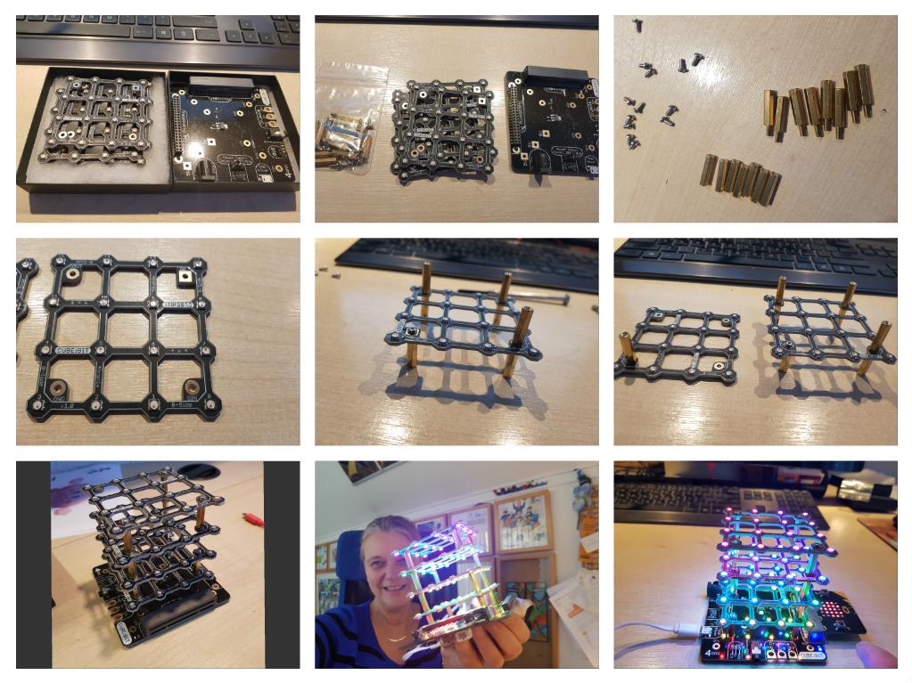 collage van de cube:bit